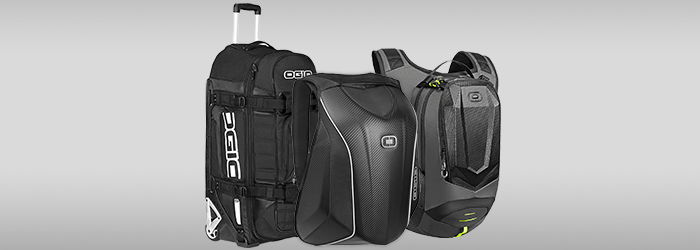 Picture of Ogio products : Rig 9800, Mach 5 and Dakar