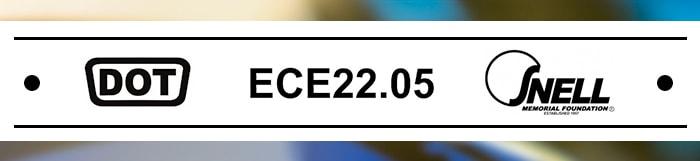 Certifications DOT, ECE22.05 et SNELL