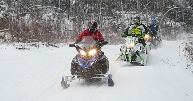 snowmobile riding style