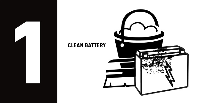 clean battery