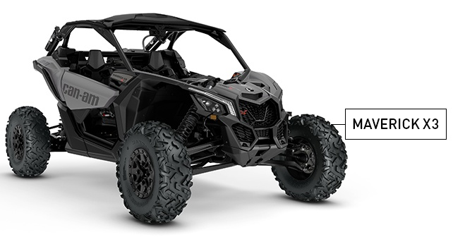 Can-am Maverick X3 black and gray - Kimpex News
