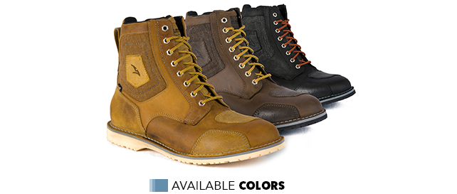 Available colors - Falco Ranger Motorcycle Boots