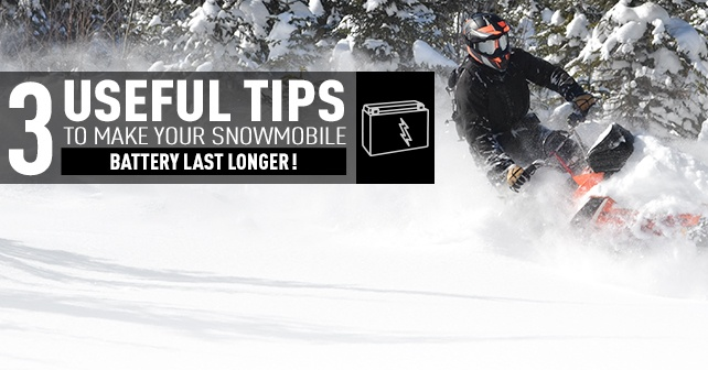 3 useful tips to make your snowmobile battery last longer!