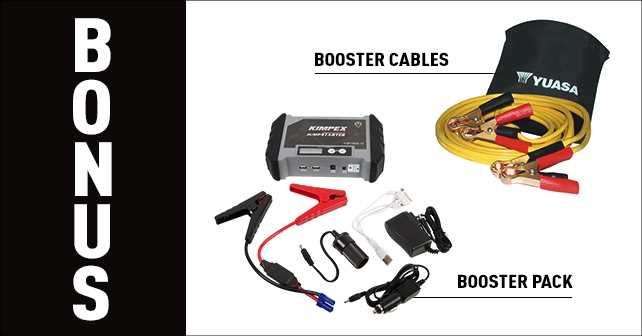 booster cables et booster pack